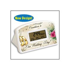 Wedding Countdown Clock Timer Bridal Shower Gifts Engagement Bride Gifts