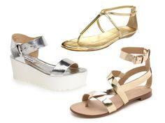 Rank & Style - Best Metallic Sandals Under $100 #rankandstyle