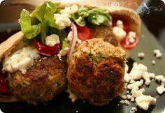 Greek Turkey Meatball Pita