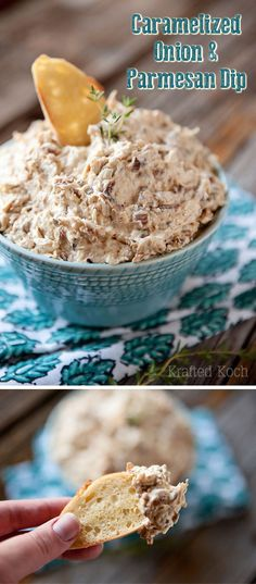 Caramelized Onion & Parmesan Dip - Great appetizer for a party that everyone will love! - Krafted Koch