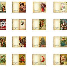 24 Printable Miniature Dollhouse Christmas Cards 112 by magicpug, $4.50