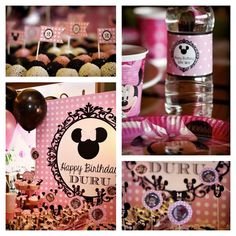 Minnie mouse concept party designed by me