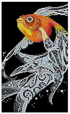 Thrilling Designing Your Own Cross Stitch Embroidery Patterns Ideas. Exhilarating Designing Your Own Cross Stitch Embroidery Patterns Ideas. Diy Bead Embroidery, Cross Stitch Embroidery, Embroidery Patterns, Counted Cross Stitch Kits, Cross Stitch Charts, Cross Stitch Patterns, Golden Fish, Fish Patterns, Cross Stitch Animals