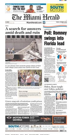 Miami Herald puts the debate below poll showing Romney with big Florida lead