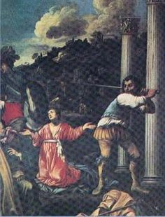 St Agapitus: thrown to the wild animals in the local arena at Palestrina 3rd c. Finally beheaded. (18 Aug)