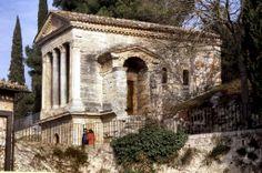 El templo romano de Clitunno. Lacio.