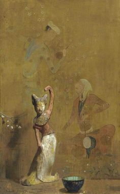 Hovsep Pushman (1877-1966) . a Chinese figurine in a painting.