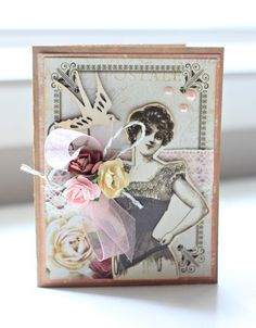 'Small Note Card' #2 by Alicia McNamara DT for Kaisercraft using 'Mademoiselle' collection - via Wendy Schultz ~ Cards 1.
