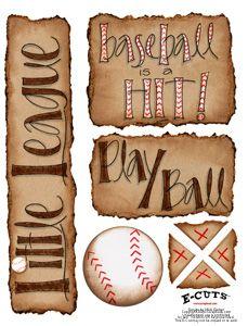 E-Cuts (Download and Print) Baseball is a Hit I at Scrapbook.com $0.99