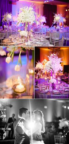 beautiful centerpieces and lighting