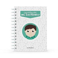 Cuaderno - Las notas del ingeniero electrónico, encuentra este producto en nuestra tienda online y personalízalo con un nombre. Notebook, Socialism, Engineer, Notebooks, Report Cards, Store, Studio, Physical Therapist, Working Man