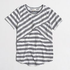 Navy & white tee shirt Navy and white criss cross Tshirt NWOT perfect condition! J. Crew Tops Tees - Short Sleeve