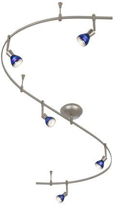 satin nickel monorail track light kit track lighting flexible blue track lighting