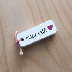 made with love tags - gift tags by nicepackagedesign on Etsy https://www.etsy.com/listing/153230718/made-with-love-tags-gift-tags