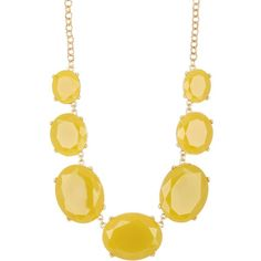 Natasha Accessories Faceted Oval Necklace ($20) ❤ liked on Polyvore featuring jewelry, necklaces, yellow, chain necklace, natasha accessories jewelry, natasha accessories, faceted necklace and facet jewelry