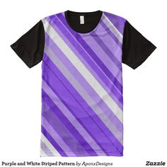 Upgrade your style with Purple t-shirts from Zazzle! Browse through different shirt styles and colors. Search for your new favorite t-shirt today! Purple T Shirts, Printed Shirts, Shirt Style, Your Style, Shirt Designs, Stripes, Pattern, Mens Tops, Color