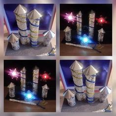 Vuurwerk knutselen Fireworks Craft, New Year Fireworks, Craft Stick Crafts, Crafts For Kids, Diy Silvester, Fireworks Pictures, New Year Art, Acrylic Tutorials, To Go