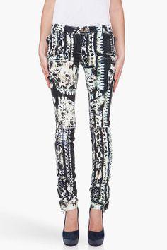 Balmain Star Print Jeans.