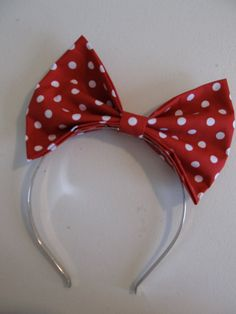 Minnie Mouse Inspired Hair Bow Head Band