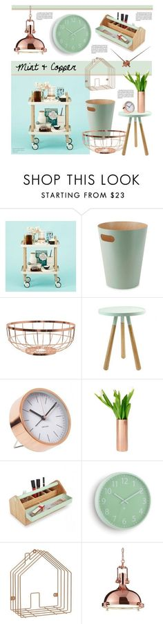 """Mint & Copper"" by redcandyuk on Polyvore featuring interior, interiors, interior design, home, home decor, interior decorating, Normann Copenhagen, Umbra and Karlsson"