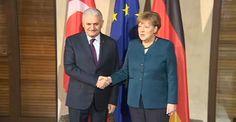 Başbakan Yıldırım, Angela Merkel'le, terörle mücadeleyi görüştü