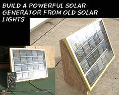 Build A Powerful Solar Generator From Old Solar Lights - SHTF Preparedness
