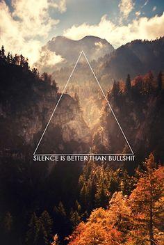 O silencio é melhor do que 'porcarias'