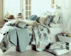 beach print quilts, king size | Tropical Seashell Quilt - tropical - quilts - by Tropicality Decor