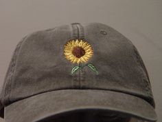 6e03f662a66 SUNFLOWER Cap - One Embroidered Women Men Fall Garden Baseball Hat - 24  Colors Mom Dad Gift Caps Available - Price Apparel Embroidery