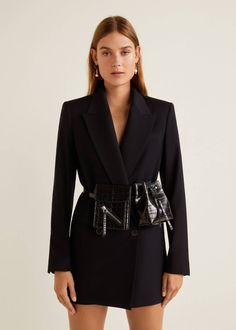 Mango Croc-Effect Belt Bag Spring Fashion Trends, Spring Trends, Womens Fashion Online, Latest Fashion For Women, Waist Purse, Nyc Girl, Tie Dye Hoodie, Mango Fashion, Star Fashion