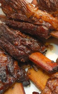 Recipe for Braised Short Ribs - These flavorful short ribs perfectly illustrate how braised meat cooked on the bone can turn out succulent and tender enough to cut with a fork.