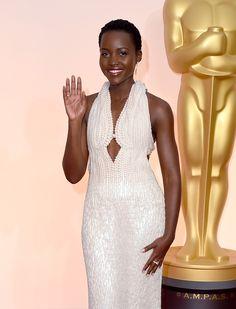 Lupita Nyong'o at the 87th Academy Awards.