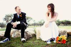Converse Bride · Rock n Roll Bride Rock N Roll, Bride, Couple Photos, Sneakers, Shoes, Wedding Ideas, Fashion, Vestidos, Converse Nails