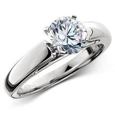 Cathedral Solitaire Diamond Platinum Ring (2 ct.)