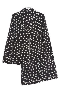 Silk polka dot pajama set