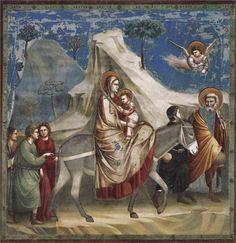 Giotto di Bondone - Flight into Egypt, c.1304-c.1306