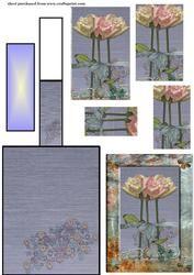 Steampunk Roses Piramide schildersezel Card