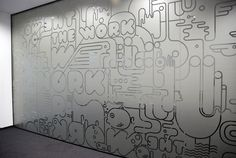 Graffiti BBDO office stickers by Mariya Donchevska, via Behance