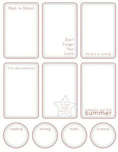 back to school printables