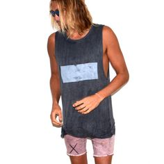b89d813890d96a Mens muscle stonewash tank- street surf wear   Tevita clothing