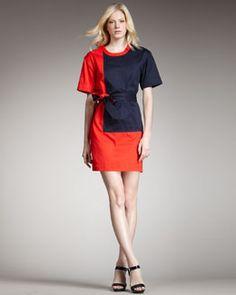 T4G17 MARC by Marc Jacobs Bauhaus Colorblock Twill Dress