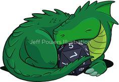 D20 Green Dragon sticker