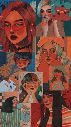 Art Sketches, Art Drawings, Arte Obscura, Aesthetic Pastel Wallpaper, Diy Canvas Art, Cartoon Wallpaper, Art Sketchbook, Portrait Art, Aesthetic Art