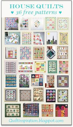 Free pattern day! House quilts | Quilt Inspiration | Bloglovin'