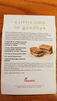 Hühnersalat (Chick-fil-A) - Food for Thought - New Recipes, Cooking Recipes, Favorite Recipes, Healthy Recipes, Recipies, Soup Recipes, Healthy Food, I Love Food, Good Food