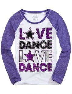 Purple/White Dance shirt