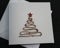 Christmas tree card by Dotty Rainbow. Jute by DottyRainbows