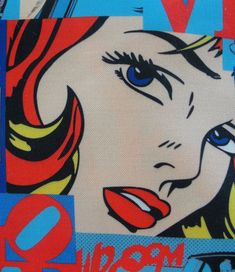 Pop art Cartoon printed Cotton fabric DOUBLE width Last lot Cartoon Fan, Cartoon Drawings, Parsons Chair Slipcovers, Pop Art Party, Printed Cotton, Sewing Projects, Cotton Fabric, Kids Rugs, Scrapbook
