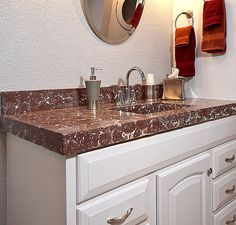 Concrete Bathroom Countertop Concrete Countertops Pinterest - Bathroom vanities san antonio