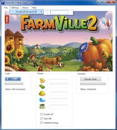 Today we introduce to you the 100% working Farmville 2 cheat that add unlimited coins, farm bucks and the other resources to your facebook application. All you need to do is just to login and press activate hack. We guarantee you that you will be one of the best Farmville 2 player after use this amazing tool.  The FarmVille 2 Hack User-Interface is made by our professional designer and it`s really easy to use it.